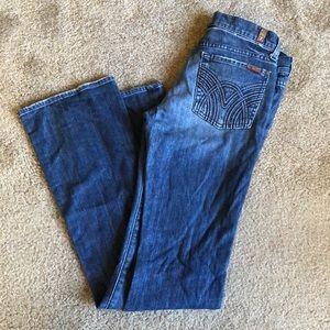 7 Seven For All Man Kind Denim Jeans SZ 28x35